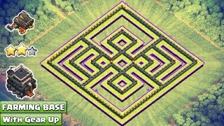 NEW! Clash Of Clans Town Hall 9 (TH9) Farming Base With Gear Up ♦ COC New Updates 2017 ♦ Anti Loots