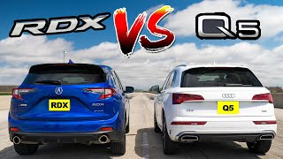Watch 2021 Acura RDX A Spec race 2021 Audi Q5 Sline. Drag Race!