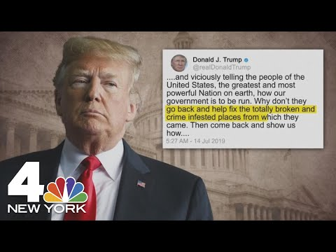 &39;Go Back&39;: President Donald Trump Tweets at AOC Other Congresswomen of Color  NBC New York