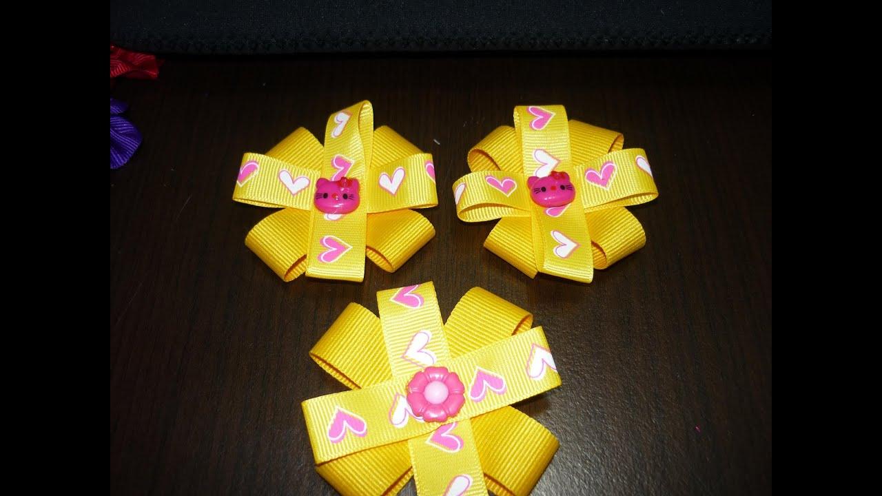 Como hacer una mo o peque o en cinta mo os manualidades la - Material para hacer diademas ...