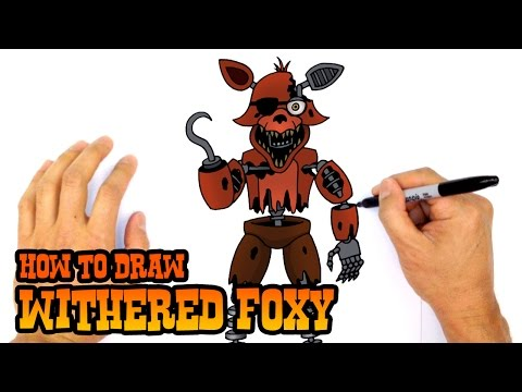 How to Draw Withered Foxy | Five Nights at Freddy's