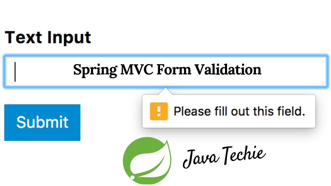 Spring MVC Form Validation (SpringBoot | Thymeleaf)