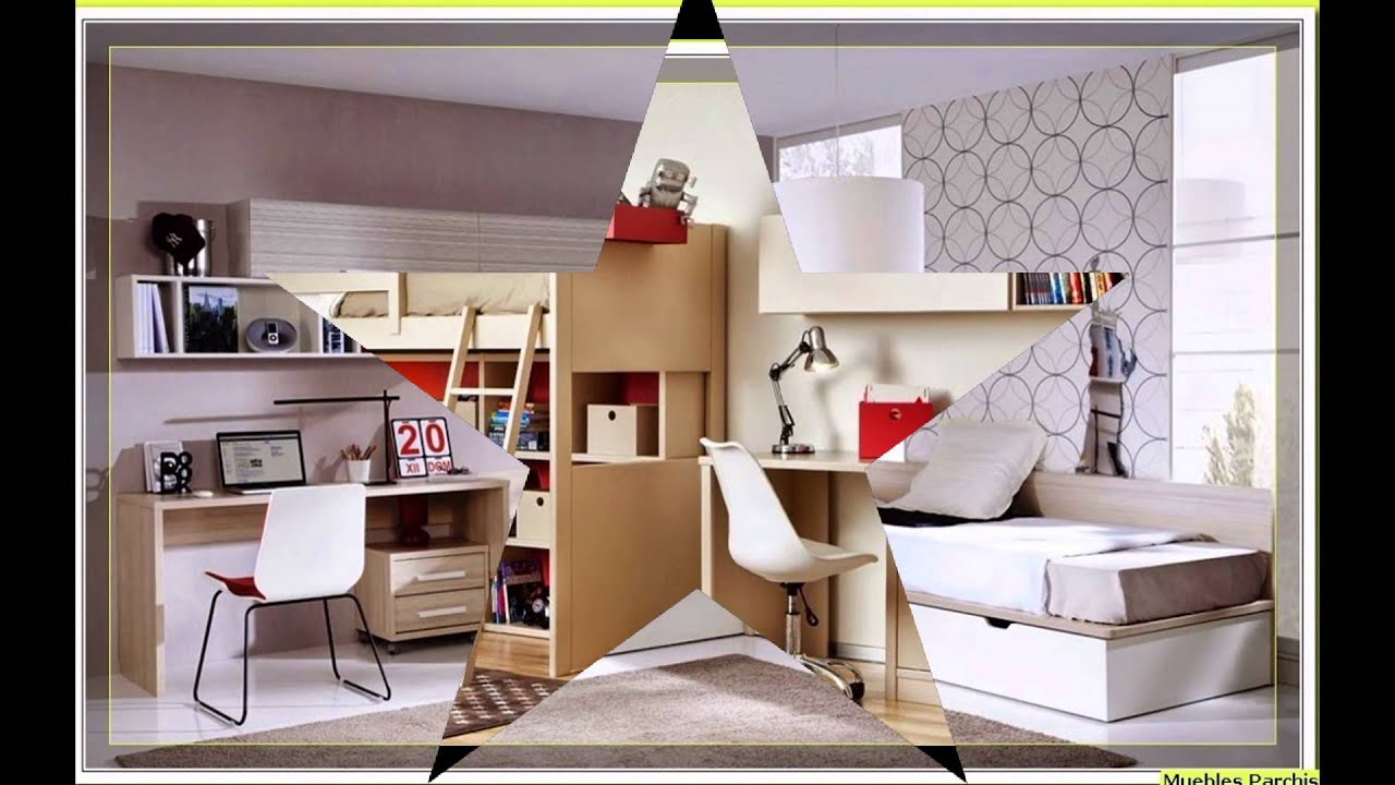 Dormitorios infantiles compartidos habitaciones para - Muebles para cuarto de nina ...