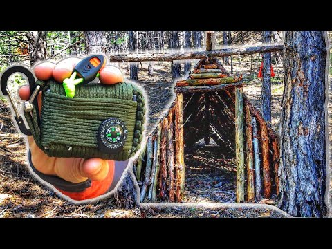 Can You Survive With Paracord Survival Kit GearBest Bushcraft Shelter Challenge