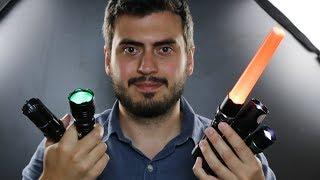 Testei as Lanternas mais INCRÍVEIS do MUNDO!! ( Uma delas dá CHOQUE! )