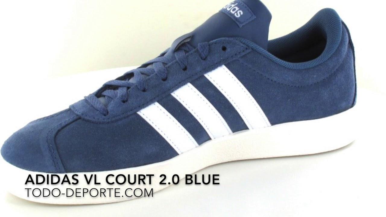 vl court 2.0 adidas blue