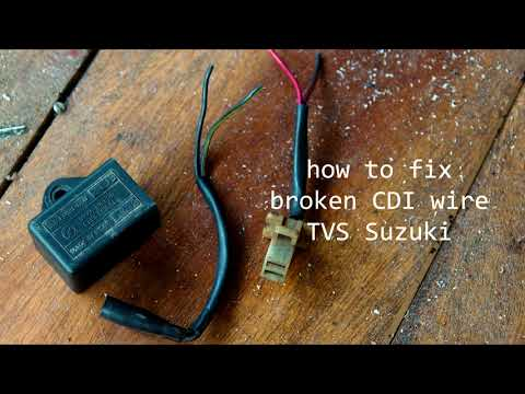 How to fix TVS Suzuki Broken CDI Wires
