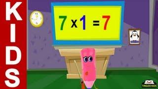 HomeSchool Tutorial   7 Times Table Song   Kids Math Online Education (English Language)