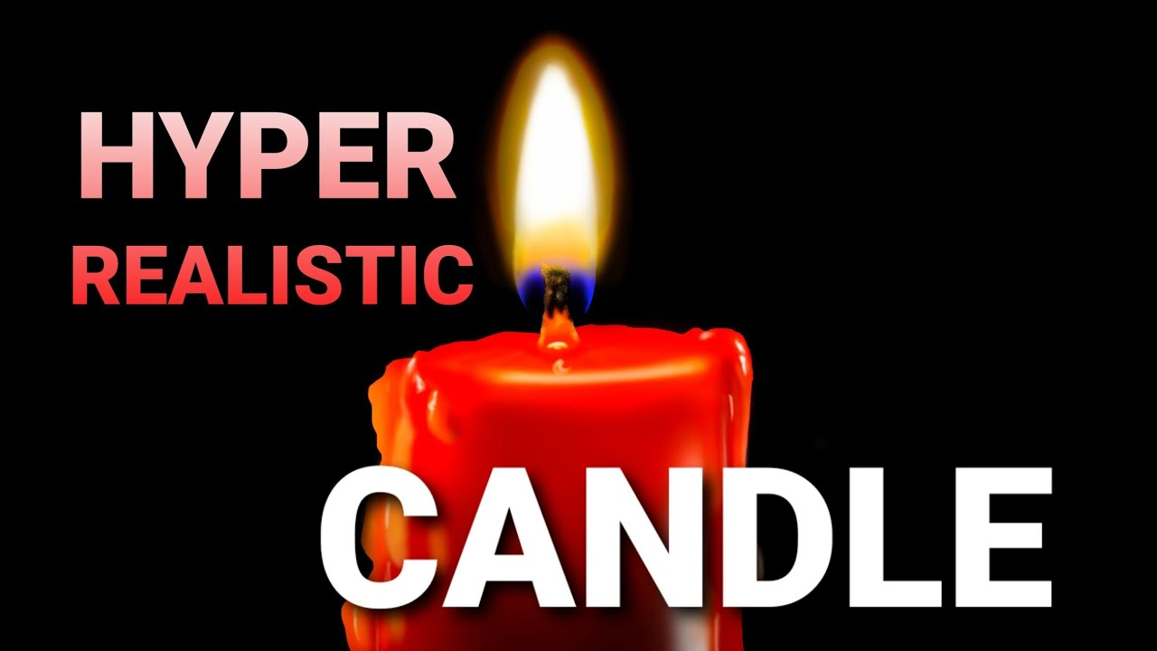 Drawing | hyper realistic | candle