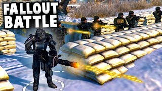 Fallout Battle Simulator! - POWER ARMOR Army Vs Chinese INVASION! (MOWAS2 Fallout Anchorage Mod)