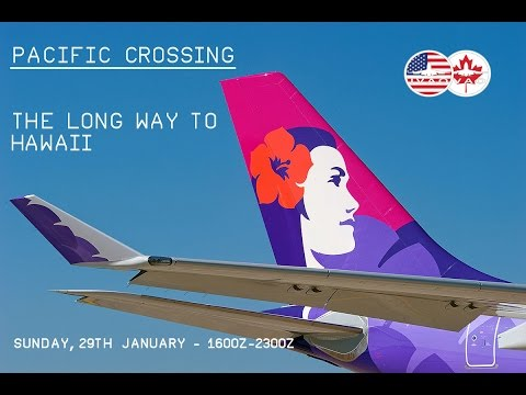 [FSX] [IVAO] BOEING 777 - Cruzamento Oceano + ETOPS | KSFO (San Francisco) ✈ PHNL (Honolulu)