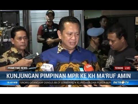 9 Pimpinan MPR Kunjungi Kediaman KH Ma'ruf Amin