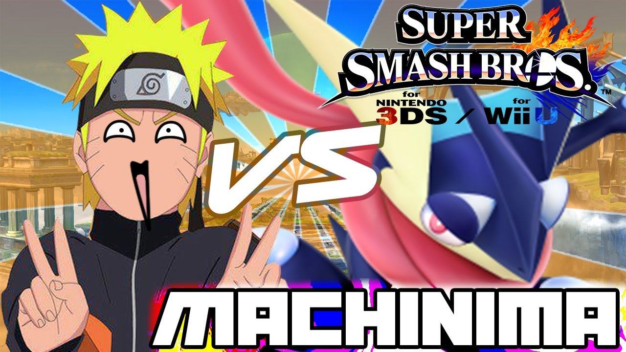 Super Smash Bros 3ds: The Machinima 1  Greninja Meets Naruto!  YouTube
