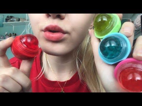 ASMR Eating My EOS Lip Balms... So Yummy!