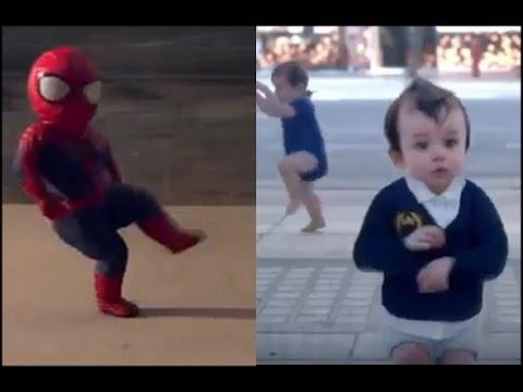 ♥Bebe araña y muchos bebitos♥ bailando el ras tas tas full(HD)!!