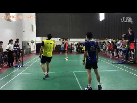 "Lee yong dae  이용대 playing badminton with his fans ""YD Sport in China"""