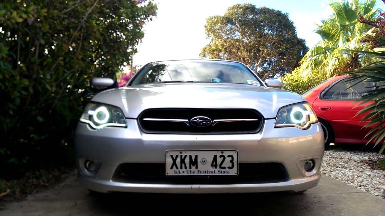 2006 b4 subaru liberty legacy led white angel eyes with switchback strips
