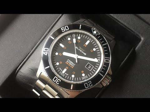 Glycine Combat Sub GL0185 | Review | Perhaps The Best Swiss Automatic Dive Watch Under $700 |