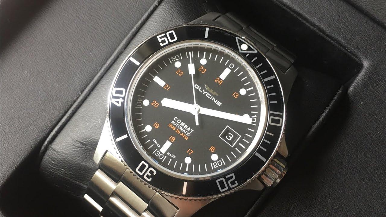 Glycine Combat Sub GL0185 | Review | Perhaps The Best Swiss Automatic Dive  Watch Under $700 |