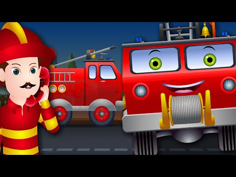Fire Truck For Children | Fire Truck Wash | Learning Vehicles and Song for Kids