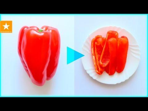 Как запечь перец в микроволновке чтобы снять кожицу