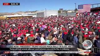 Huge Crowd Turns Out to See President Trump at Elko, NV Rally 10-20-18