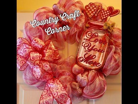 Valentine S Day Deco Mesh Pretty In Pink Wreath Quick Voice Over