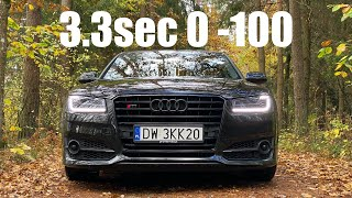 Audi S8 PLUS 605HP acceleration 0-100 0-200 100-200