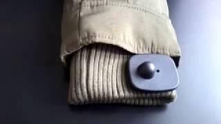 Как снять магнит (бипер, клипсу) с одежды?