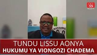 Lissu aonya hatari hukumu dhidi ya akina Mbowe