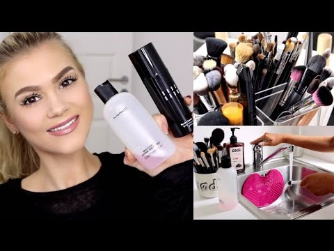 HOW TO CLEAN MAKEUP BRUSHES | QUICK/SPOT...