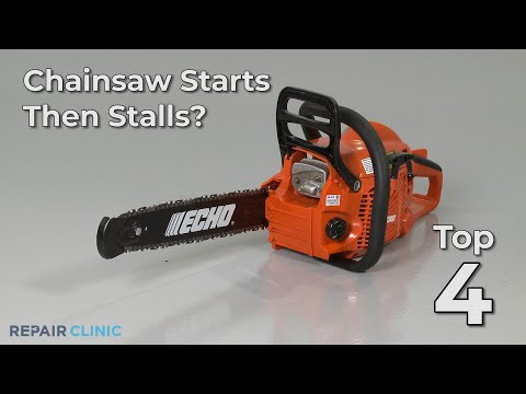 "Thumbnail for video ""Chainsaw Starts, Then Stalls? Chainsaw Troubleshooting"""
