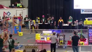Practice round FIRST FRC Power Up Robotics Texas State Championship