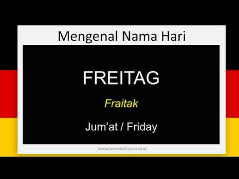 Belajar Bahasa Jerman Mengenal Nama nama Hari by Pesona Bahasa