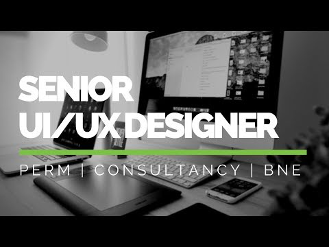 Snr Design Consultant Wanted - UX and UI - Nov. 2017