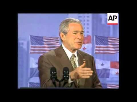 President Bush visits the Panama Canal, plus presser