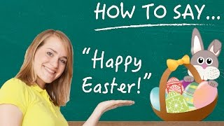 """German Lesson - How to Say """"Happy Easter"""" - Explaining Easter Holiday Traditions - A2/B1"""
