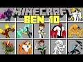 Minecraft BEN 10 MOD l TRANSFORM INTO BEN 10 ALIENS! l Modded Mini-Game