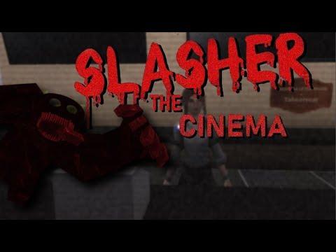 The Cinema Slasher Roblox Gameplay Roblox Horror Game Youtube