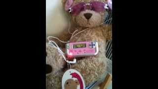 Build a Bear fit Teddy bear MP3 Player