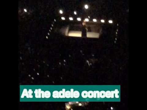 At the Adele concert