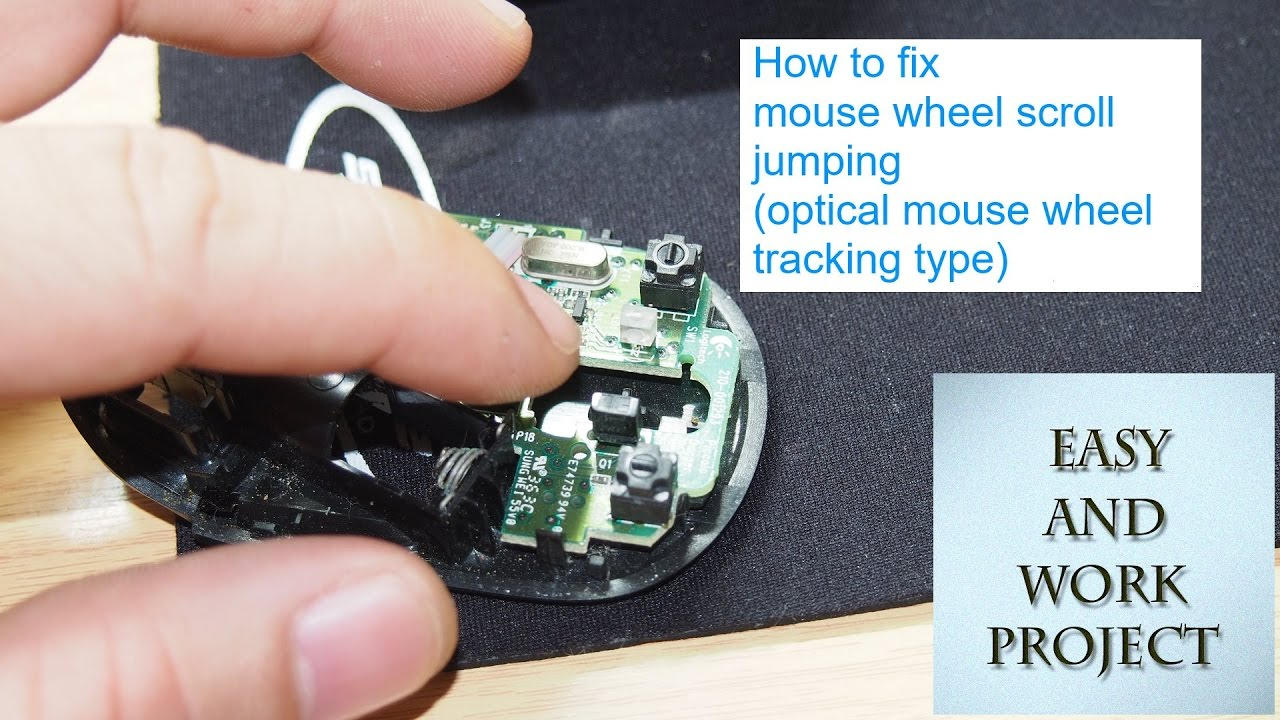 how to fix jumping mouse wheel (optical encoder type)