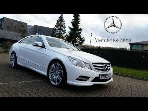 Mercedes E220 Sport Coupe CDi with AMG pack white look round