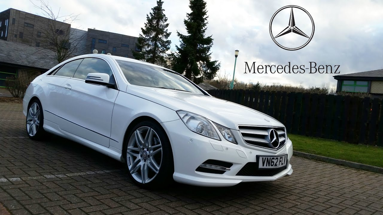 mercedes e220 sport coupe cdi with amg pack white look doovi. Black Bedroom Furniture Sets. Home Design Ideas