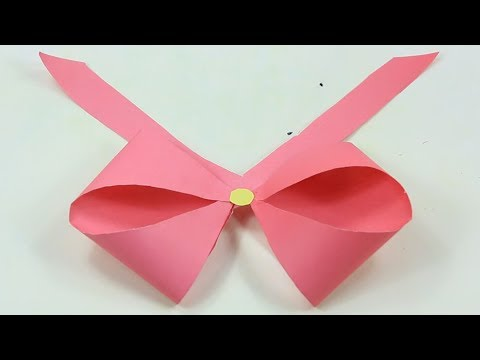 How to make a paper Bow/Ribbon|Easy origami Bow/Ribbons for beginners making|DIY Crazy Paper Crafts