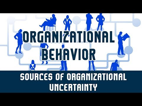 Organizational Environment | Sources of Organizational Uncertainty | Part 4