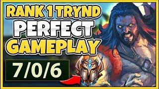 #1 TRYNDAMERE WORLD DESTROYS CHALLENGER (FLAWLESS GAMEPLAY) - League of Legends