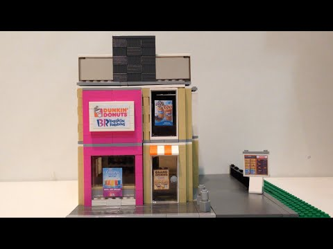 Lego Custom Dunkin Donuts Review Youtube