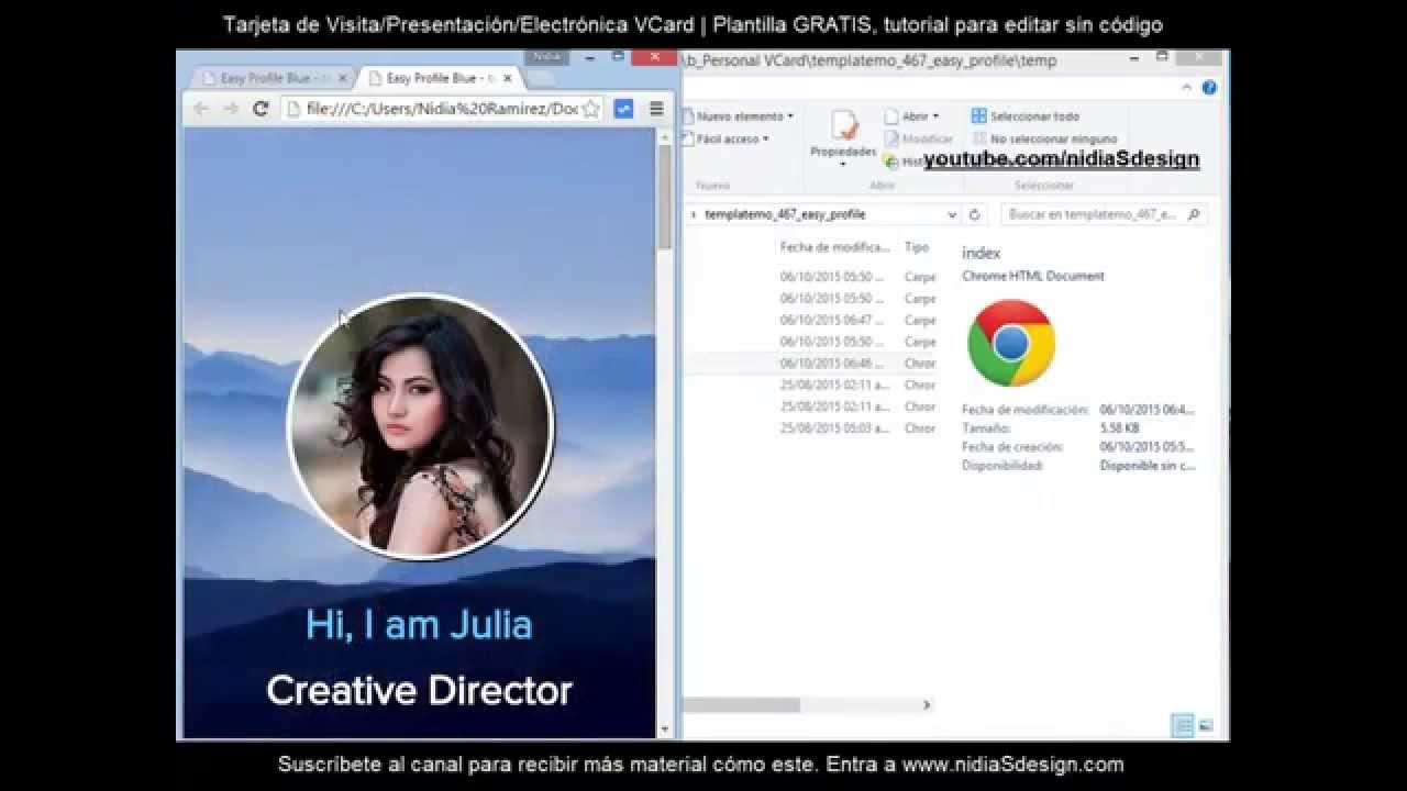 Cómo crear una página web personal sin código HTML5 CSS Responsiva ...