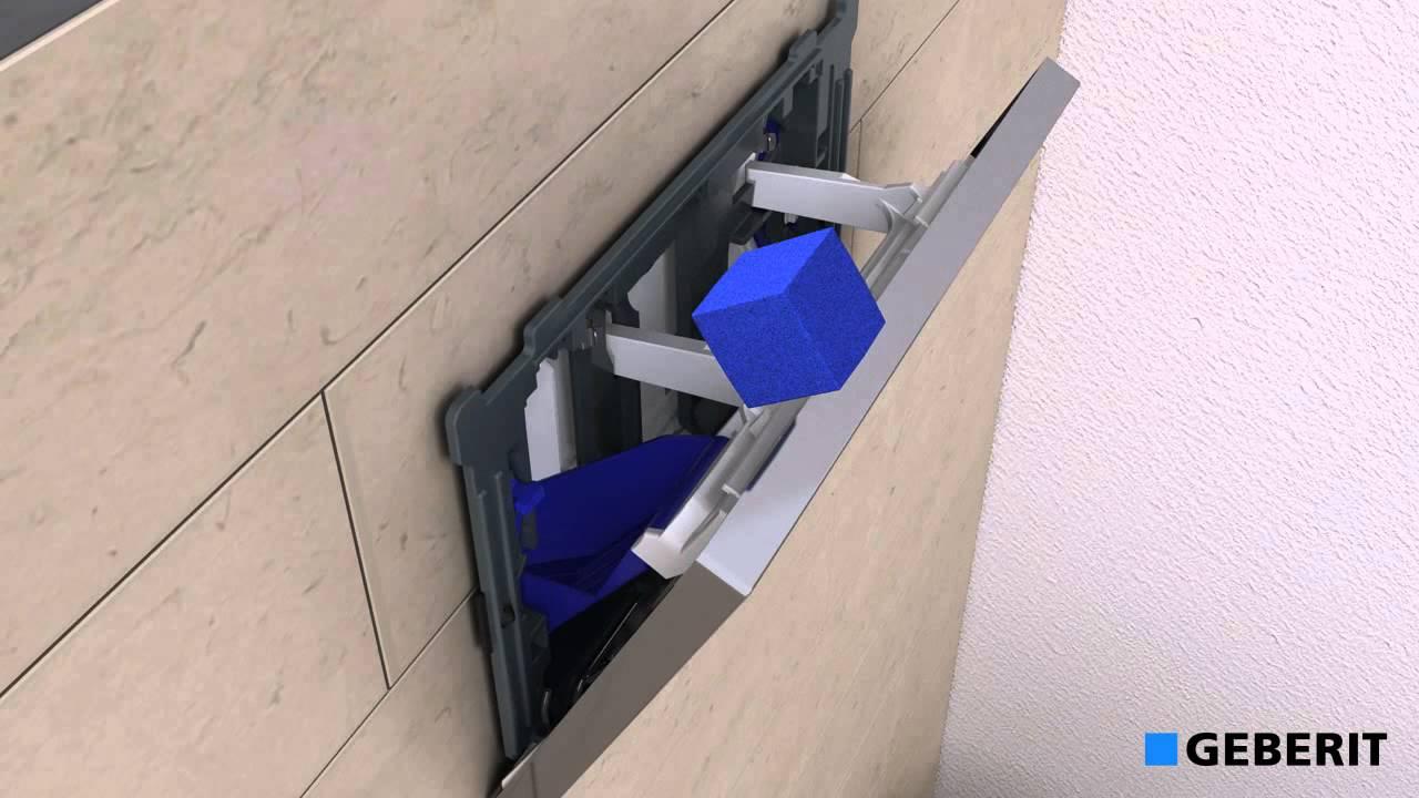 Support Geberit Wc Suspendu geberit - support de plaques cubes eau bleue.